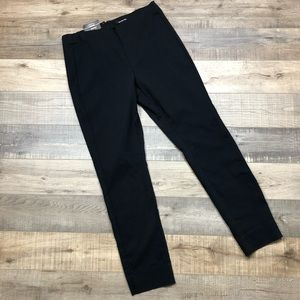 WHO WHAT WEAR   Black Skinny Mid Rise Cropped Pant